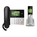 CS6949 - Corded/cordless - answering system with caller ID/call waiting - DECT 6.0 - black, silver + additional handset