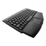 Adesso Mini-Touch Keyboard with Touchpad - PS/2 - Black ACK-540PB