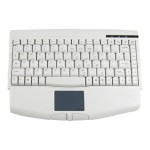 Adesso Mini-Touch Keyboard with Touchpad - USB - White ACK-540UW