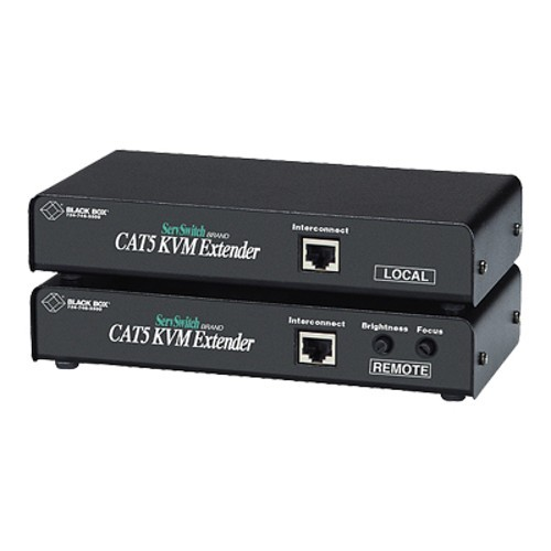 Black Box SINGLE ACCESS CAT5 KVM & SERIAL EXTENDER W/ AUDIO