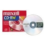 Maxell CD-RW Media 10x 650MB/74 Minute, 5 Pack Jewel Case 630025