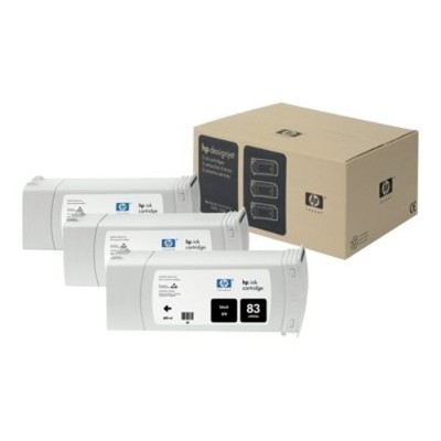 HP 83 3-pack 680-ml Black UV Cartridges (C5072A )