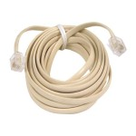 Phone cable - RJ-11 (M) to RJ-11 (M) - 15 ft - ivory