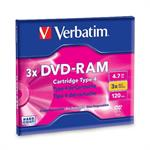 DVD-RAM 4.7GB 3X Single-Sided Type 4 Cartridge