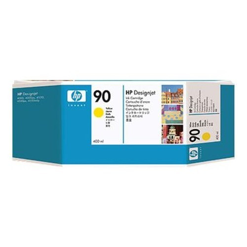 HP 90 400ml Yellow Ink Cartridge