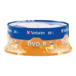 Verbatim 16x 4.7GB DVD-R Branded Media, 25-Pack Spindle 95058