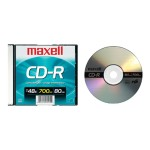 Maxell 48x CD-R 700MB Data Storage Media  - 1 Pack Slim Jewel 648201