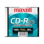 Maxell 48x 700MB White Printable CD-R Media 648721