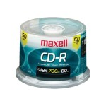 Maxell 48x CD-R 700MB Data Storage Media  - 50 Pack Spindle Case 648250