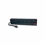 "Basic Rack-Mount PDU - Power distribution strip (rack-mountable) - AC 120 V - 2.4 kW - input: NEMA 5-20 - output connectors: 10 (NEMA 5-20) - 1U - 19"" - 12 ft - black - for P/N: AR3100, SU2200RMXL3U-TU, SUM3000RMXL2U, SUM3000RMXL2U-TU, SURTA3000XL, SURTA3"
