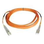 3ft Duplex Multimode 50/125 Fiber Patch Cable (LC/LC) - Orange (1 Meter)