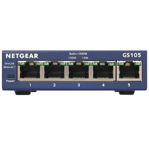 NetGear ProSafe 5-Port Gigabit Ethernet Desktop Switch - 10/100/1000 Mbps