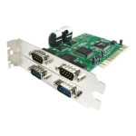4 port PCI RS232 Serial Adapter Card with 16550 UART - Serial adapter - PCI - RS-232 x 4