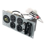 Backplate - Power backplate - NEMA 5-15, NEMA 5-20, NEMA L5-20 (F) - for P/N: SUA2200R2X106-TU, SUA3000R2X145, SUA3000R2X145-TU, SUA3000RM2U-TU, SUA3000RMUS