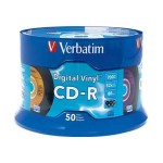 Verbatim CDR 80Min. 700MB Branded - Digital Vinyl - Storage media 94587