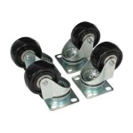 Caster Kit for Open Frame Rack - 4POSTRACK - Rack casters kit - for P/N: 4POSTRACK25, 4POSTRACKBK