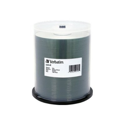 VerbatimCD-R 80 Minute 700MB 52X Shiny Silver - DataLife Plus 100 Pack Spindle(94797 )