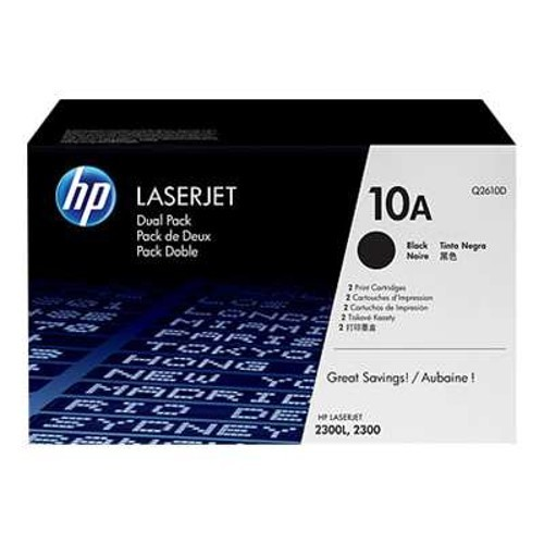 HP 10A Dual Pack - Q2610D - toner cartridge - black