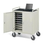 Laptop Storage Cart LAP18EULBA-GM - notebook cart