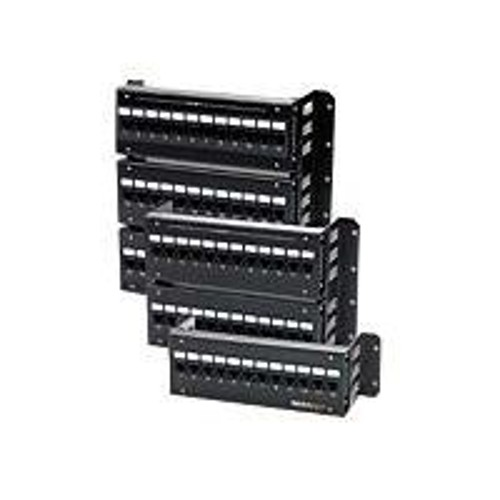 Signmax Connectivity 12-Port Category 5E Modular-110 Mini Wall Mount Patch Panel With 89D Bracket. T568A/B Wiring.
