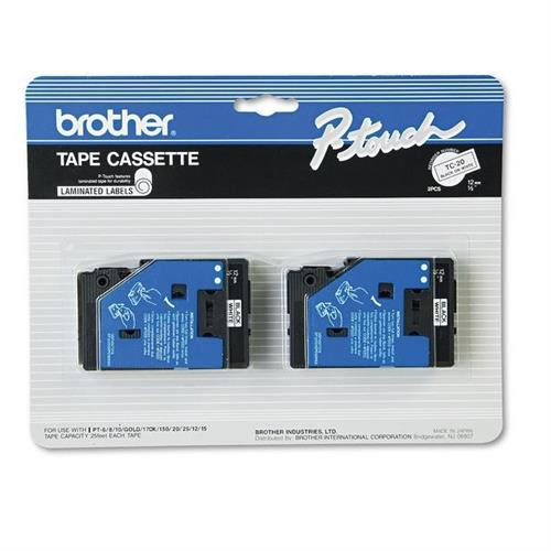 "Brother 2pk 1/2"" Black on White"