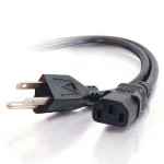 6ft 14 AWG Premium Universal Power Cord (NEMA 5-15P to IEC320C13) - Power cable - power (M) to power (F) - 6 ft - black