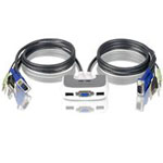 2-Port MiniView Micro USB PLUS KVM Switch with Audio and Cables