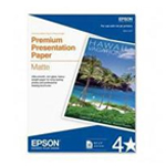 "Epson 8.5"" x 11"" Premium Presentation Paper Matte, Double-sided - 50 Sheets S041568"