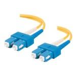 2m SC-SC 9/125 Duplex Single Mode OS2 Fiber Cable - Yellow - 6ft - Patch cable - SC single-mode (M) to SC single-mode (M) - 6.6 ft - OS1