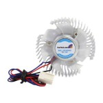 Round Orb - Chipset cooler - copper