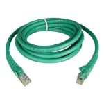 TrippLite 7ft Cat6 Gigabit Snagless Molded Patch Cable RJ45 M/M Green 7' - Patch cable - RJ-45 (M) to RJ-45 (M) - 7 ft - UTP - CAT 6 - molded, snagless, stranded - green N201-007-GN