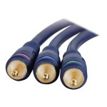 6ft VELOCITY COMPONENT VIDEO CABLE   3 RCA M/M