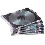 NEATO - Storage CD slim jewel case - capacity: 1 CD, 1 DVD - black, clear (pack of 50 )