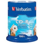 CD-R 700MB 52X with Blank White Surface - 100pk Spindle