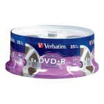 Verbatim DigitalMovie DVD+R 4.7GB 8X 25pk Spindle 94865