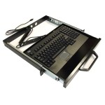 Rackmount Keyboard Drawer with built-in Touchpad Keyboard ACK-730UB-MRP - Keyboard - rack-mountable - USB