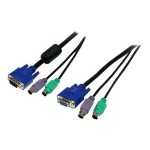 StarTech 3-in-1 PS/2 KVM Cable - Keyboard / video / mouse (KVM) cable - 6 pin PS/2, HD-15 (M) to 6 pin PS/2, HD-15 - 6 ft - for P/N: SV431HGB, SV832DSGB, SV831GB, SV431GB, SV431DGB, SV1632DSGB, SV421DD, SV221DD, CAB832DS, SV1632DS SVPS23N1_6