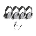 4-PERSON INFRARED STEREO/MONO HEADPHONES WITH TRANSMITTER