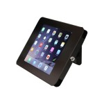 "Lockable Tablet Stand for iPad - Desk or Wall Mountable - Steel Tablet Enclosure - Supports 9.7"" iPad"