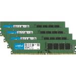 DDR4 - 32 GB : 4 x 8 GB - DIMM 288-pin - 2400 MHz / PC4-19200 - CL17 - 1.2 V - unbuffered - non-ECC