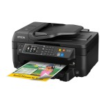 Epson WorkForce WF-2760 - Multifunction printer - color - ink-jet - Legal (8.5 in x 14 in) (original) - A4/Legal (media) - up to 11 ppm (copying) - up to 13.7 ppm (printing) - 150 sheets - 33.6 Kbps - USB 2.0, LAN, Wi-Fi(n), NFC C11CF77201