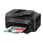 Epson WorkForce WF-2750 - Multifunction printer - color - ink-jet - Legal (8.5 in x 14 in) (original) - A4/Legal (media) - up to 11 ppm (copying) - up to 13.7 ppm (printing) - 150 sheets - 33.6 Kbps - USB 2.0, Wi-Fi(n) C11CF76201