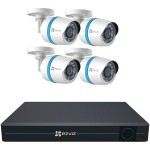 8-Channel 1080p IP System with 2TB Hard Drive & 4 Weatherproof 1080p PoE Bullet IP Cameras
