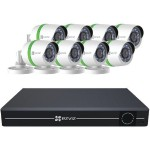 8-Channel 1080p Analog System with 1TB Hard Drive & 8 Weatherproof 1080p Bullet Cameras