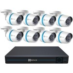EZVIZ 16-Channel 1080p IP System with 3TB Hard Drive & 8 Weatherproof 1080p PoE Bullet IP Cameras BN-1G28A3