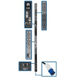 PDU 3-Phase Monitored 200/208/240V 42 C13 6 C19 60A 10' Cord 0U - Power distribution unit ( rack-mountable ) - 60 A - AC 200/208/240 V - 14.5 kW - 3-phase - Ethernet 10/100 - input: IEC 309 EN 60309 60A - output connectors: 48 - 0U