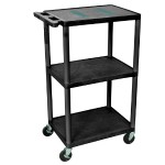 "Luxor 42"" Endura A/V Cart - Three Shelves (No Cabinet) LE42-B"