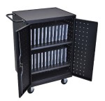 24 Laptop Computer Charging Cart - Black (Open Box Product, Limited Availability, No Back Orders)