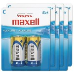 2-Pack C Cell Alkaline Battery - 6 Packs of 2 - 12 Batteries Total
