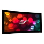 Lunette Series Curve235-158A1080P3 - Projection screen - wall mountable - 158 in (157.9 in) - 2.35:1 - AcousticPro1080P2 - black